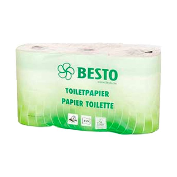 Papel higiénico doméstico 55mt 2 folhas 6 rolos