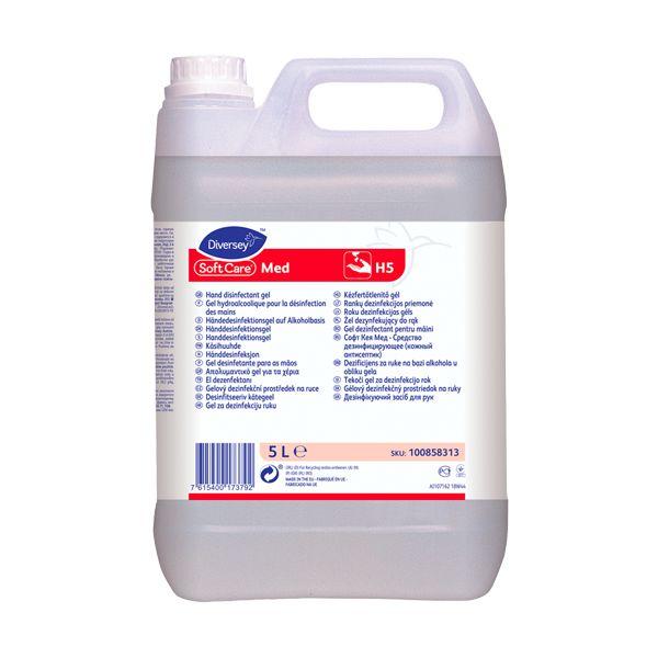 Álcool gel higienizante, desinfetante, anti-séptico Diversey Soft Care 5lt
