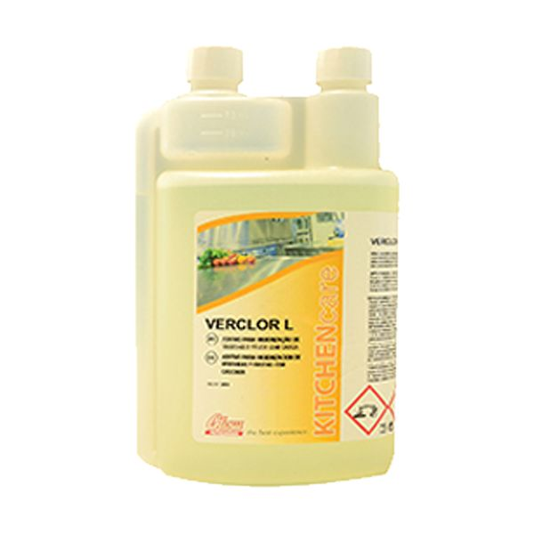 Higienizante de vegetais e frutas com casca Verclor L 1lt