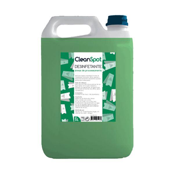 Detergente desinfectante para áreas de processamento alimentar Cleanspot 5lt
