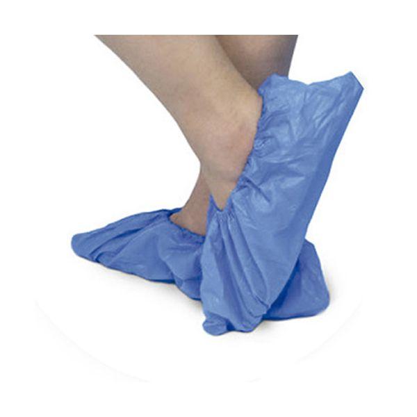 Cobre sapatos descartável de polietileno com elástico 100un