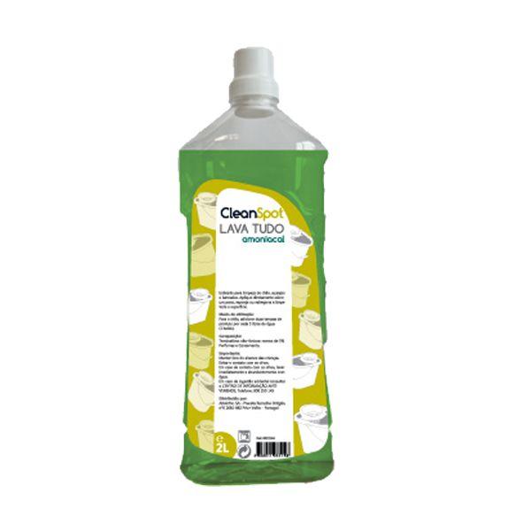 Detergente lava tudo amoniacal pinho Cleanspot 2lt (pack 9)