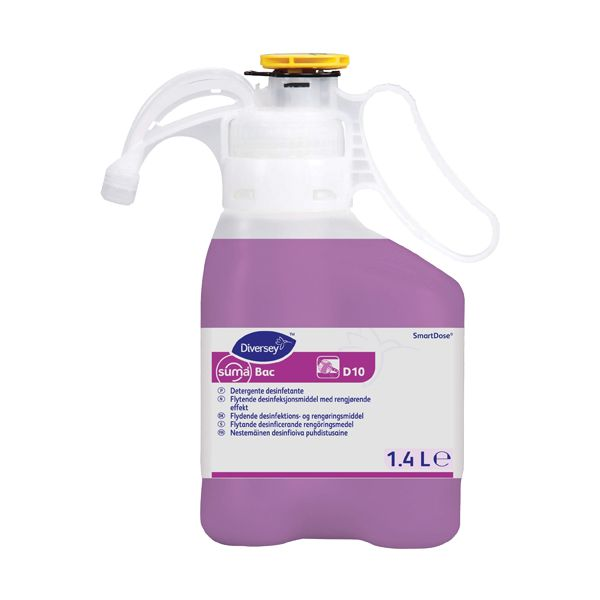 Detergente desinfectante concentrado Diversey Suma Bac D10 SmartDose 1,4lt