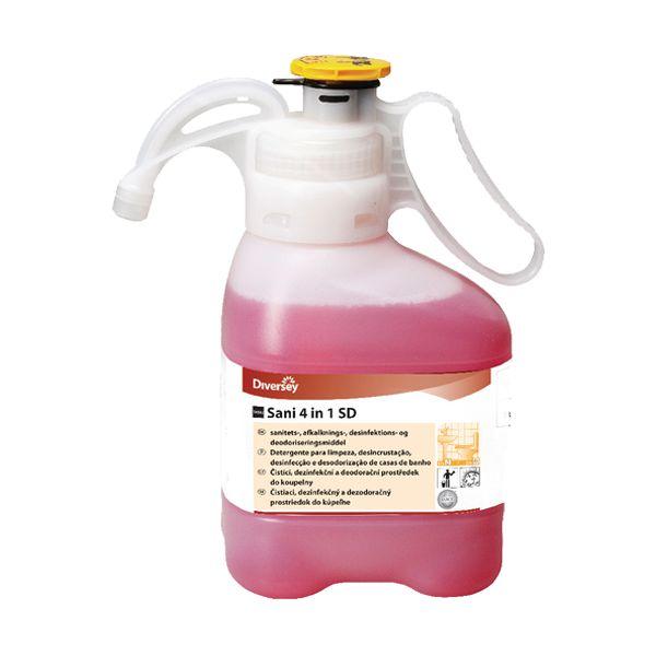 Detergente desinfect. desincrust. desodoriz. Diversey Sani 4 em 1 SD SmartDose 1,4lt