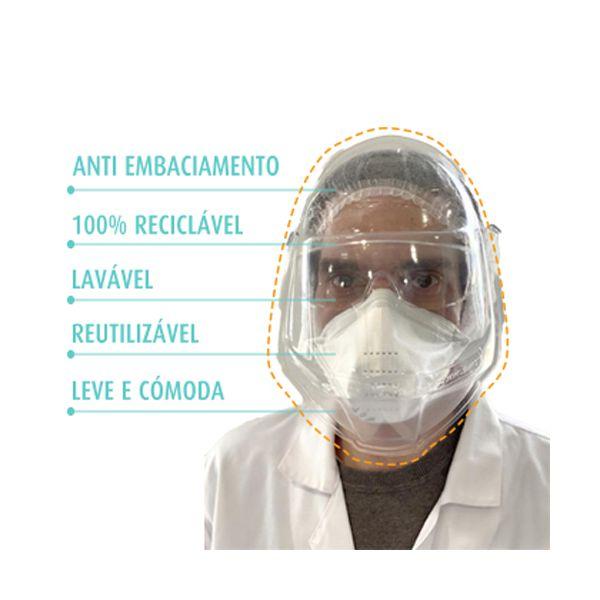 Viseira facial de protecção individual compatível com óculos e máscaras (pack 24)