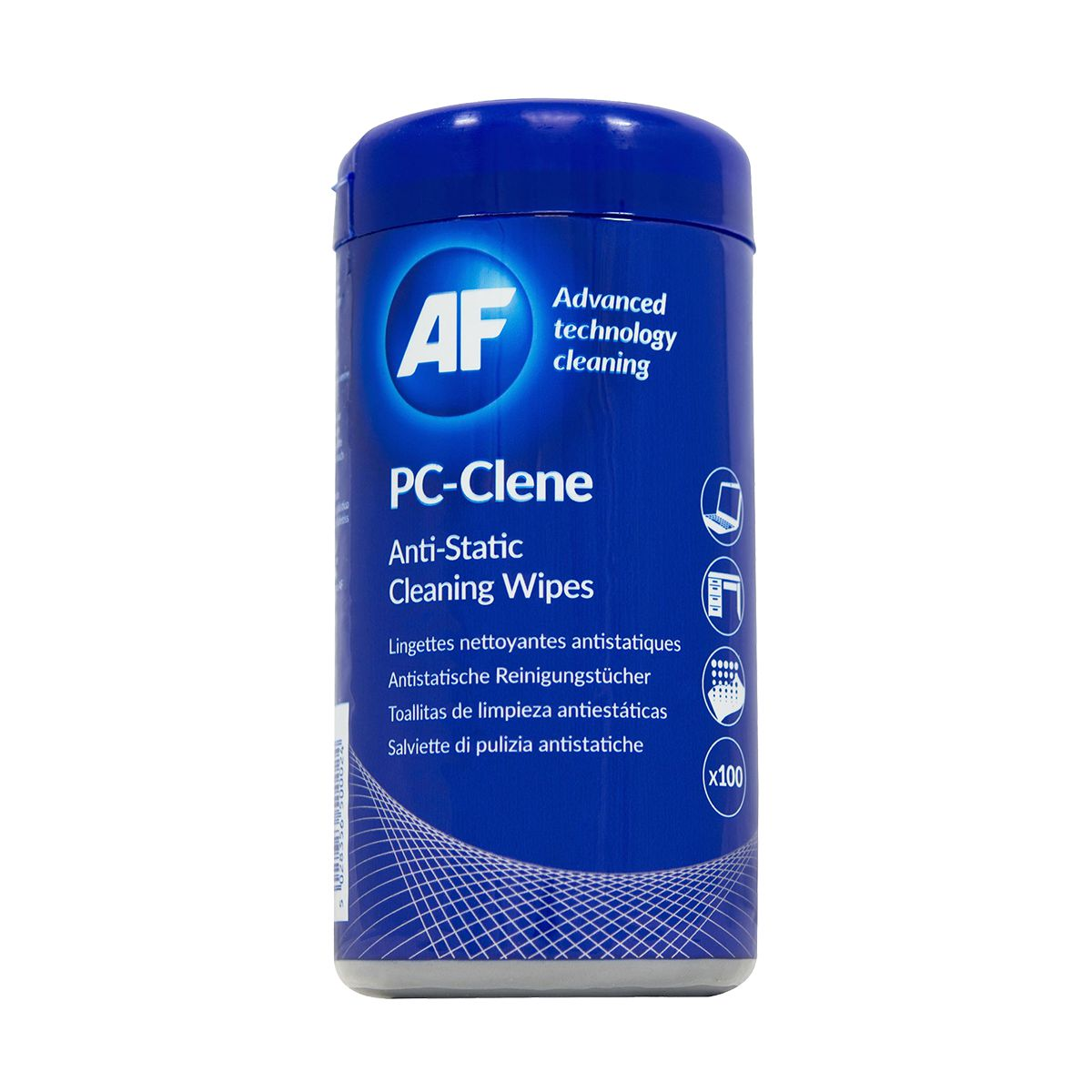 Toalhetes anti-estáticos para limpezas técnicas AF PC-Clene 100un