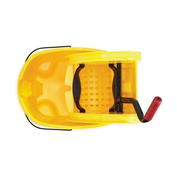 Balde de esfregona amarelo com prensa Rubbermaid Wave Break 33lt