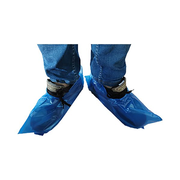 Cobre sapatos descartável de polietileno sem elástico 100un