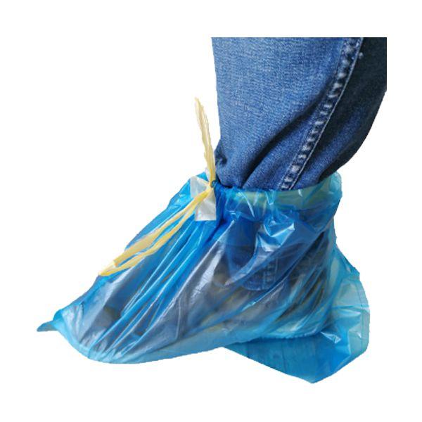 Cobre sapatos descartável de plástico com atilho 50un