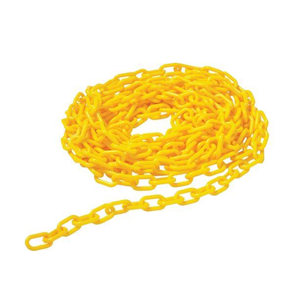 Corrente de segurança amarela em plástico para cones de chão Rubbermaid 6mt