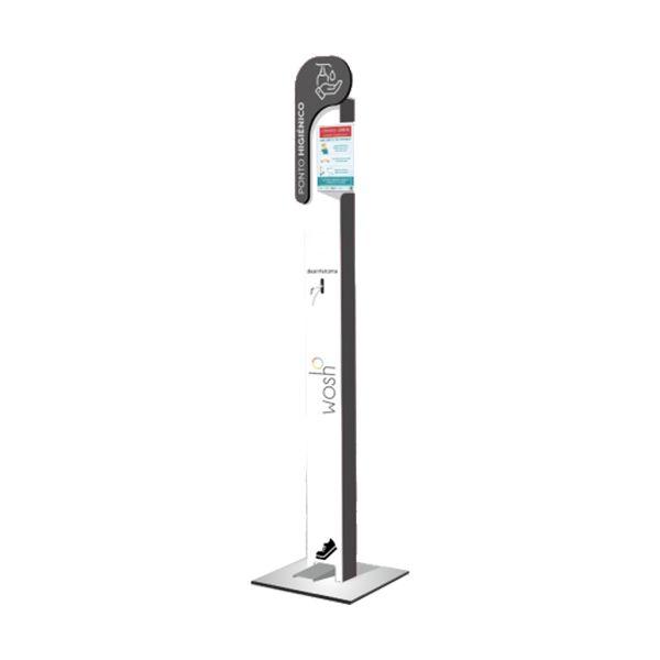 Dispensador mecânico de álcool gel em coluna com pedal