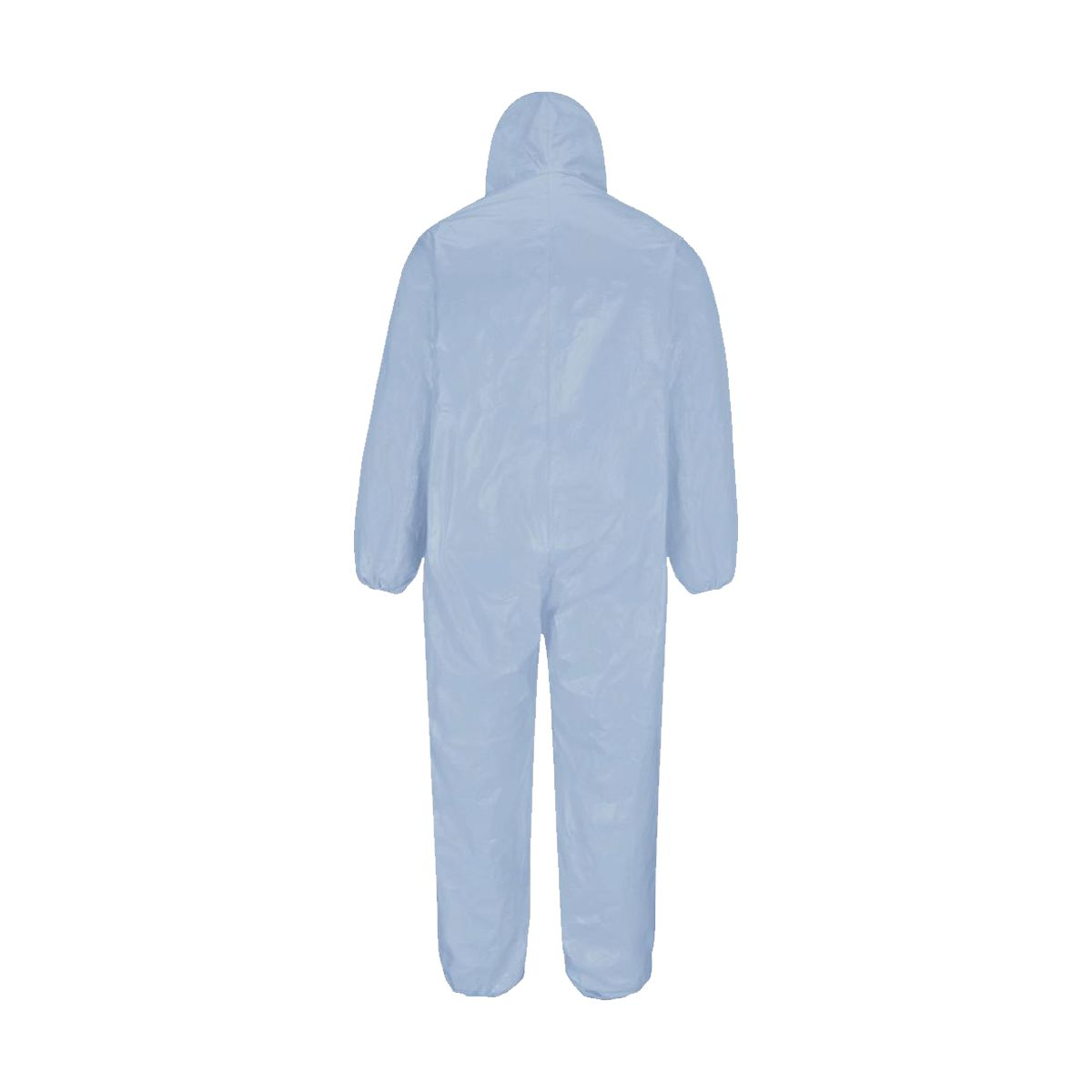 Fato descartável de protecção azul com capuz
