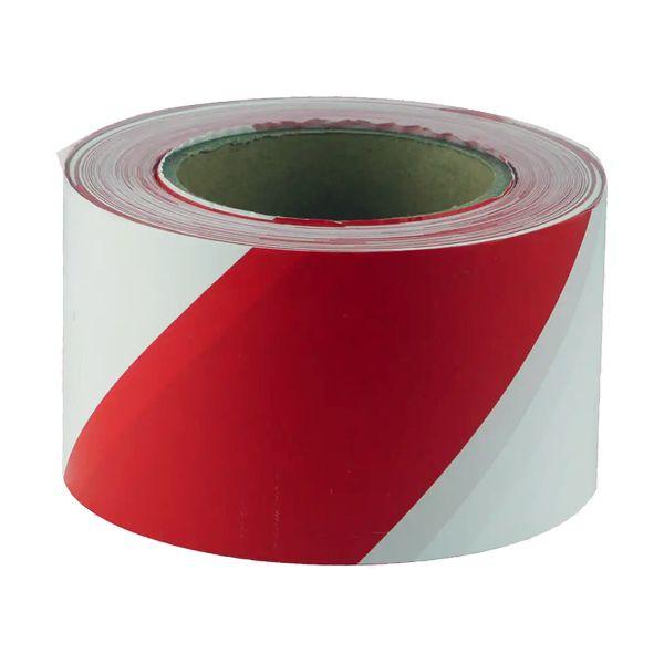 Fita não adesiva de sinalização branca e vermelha Perel 80mmx100mt