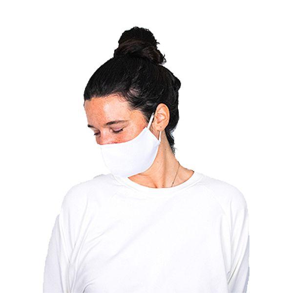 Máscara social reutilizável branca, com 3 camadas, certificada CITEVE nível 3 (pack 6)