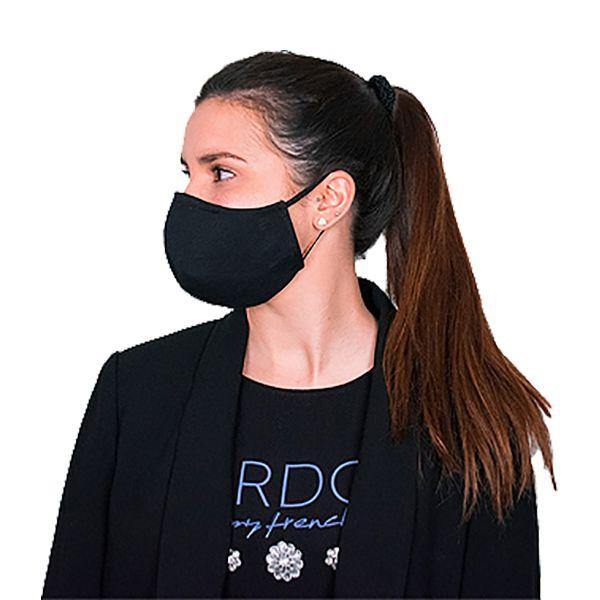 Máscara social reutilizável preta, com 3 camadas, certificada CITEVE nível 3 (pack 6)