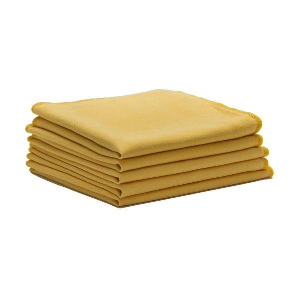 Pano do pó de flanela de qualidade extra laranja 50x50cm