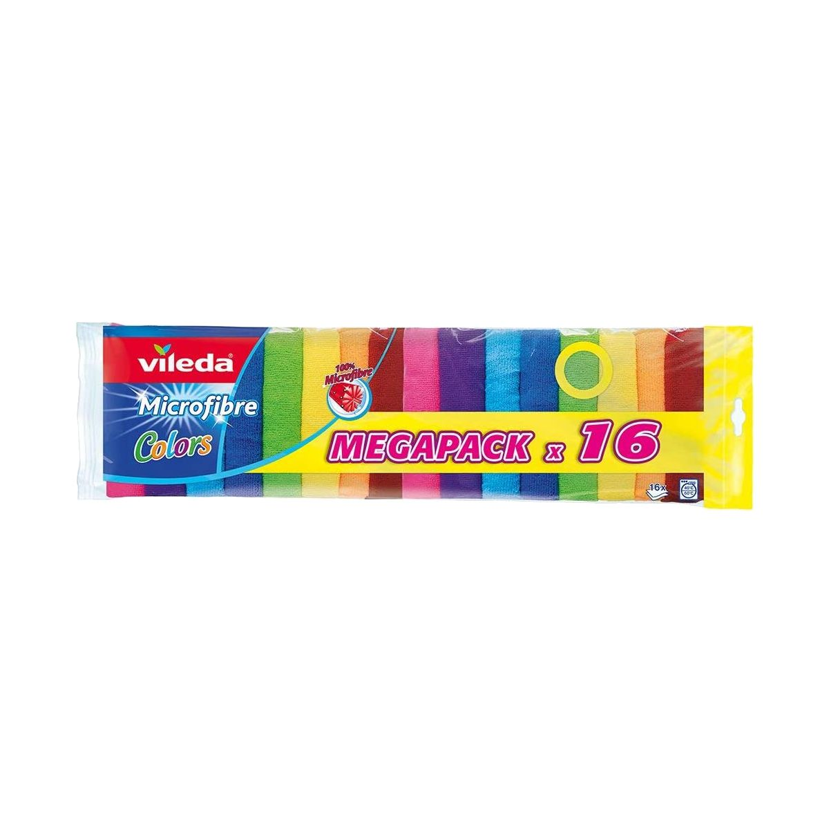 Pano microfibras Vileda Colors 30x30cm (pack 16)