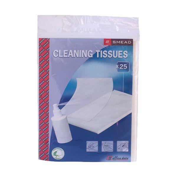 Pano de limpeza de equipamentos Smead Cleaning Tissues 25x14cm (pack 25)