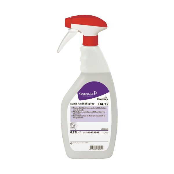 Spray desinfectante para superfícies sem enxaguar Diversey Suma D4.12 750ml