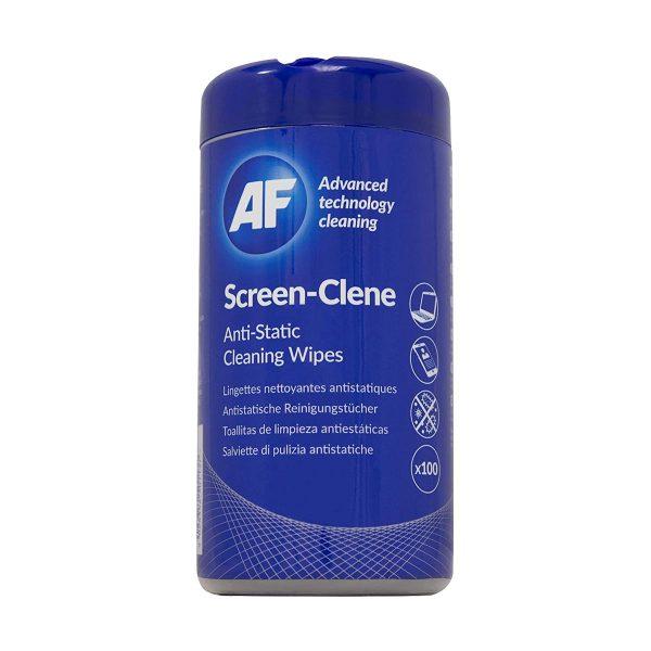 Toalhetes de limpeza de ecrãs AF Screen-clene 100 lenços impregnados