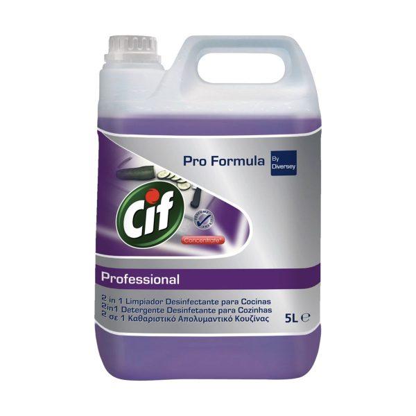 Detergente desinfectante para cozinhas 2 em 1 Cif Pro Formula by Diversey 5lt