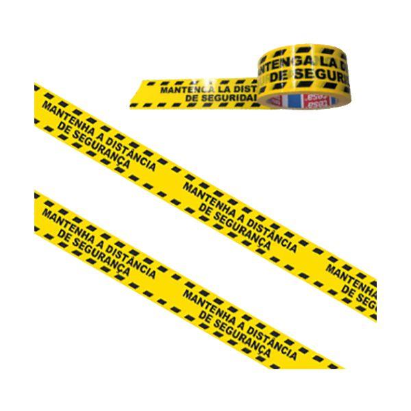 Fita adesiva com impressão Distância de Segurança amarelo e preto Tesa 50mmx33mt