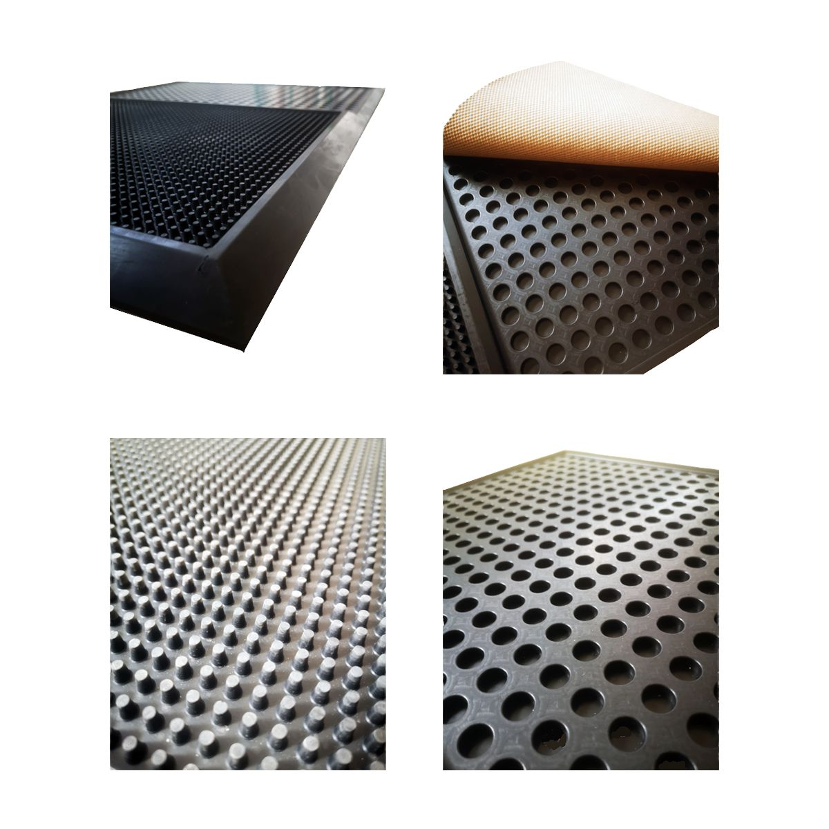 Tapete com reservatório para desinfecção de calçado e secagem 870x620x18mm