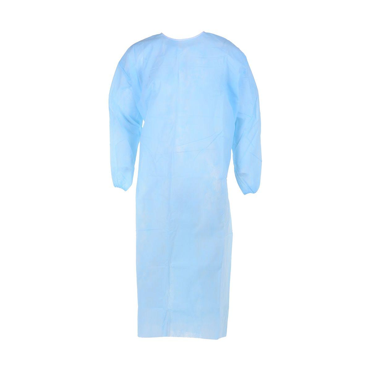 Bata descartável azul plastificada tamanho único (pack 20)