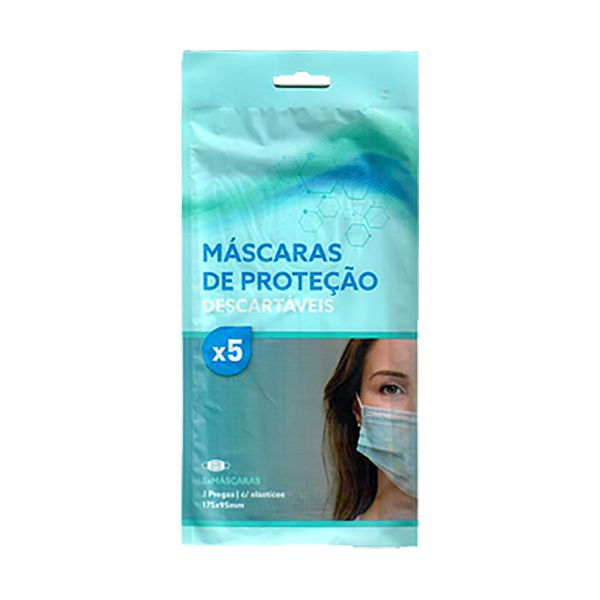Máscara cirúrgica descartável, de alta protecção, com 3 camadas (pack 10x5)
