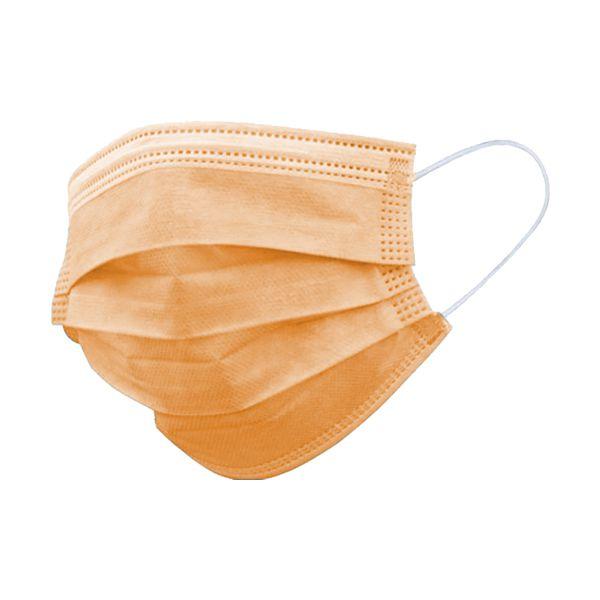 Máscara descartável para criança, com 3 camadas, laranja (pack 50)