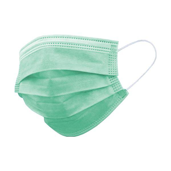 Máscara descartável para criança, com 3 camadas, verde claro (pack 50)