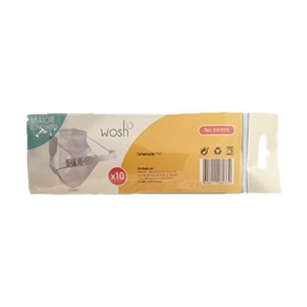 Salva orelhas / correia em PVC para máscara (pack 10)