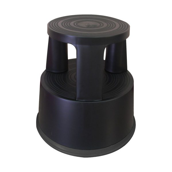 Escadote / Tamborete de plástico preto Connect com 2 níveis 45cm