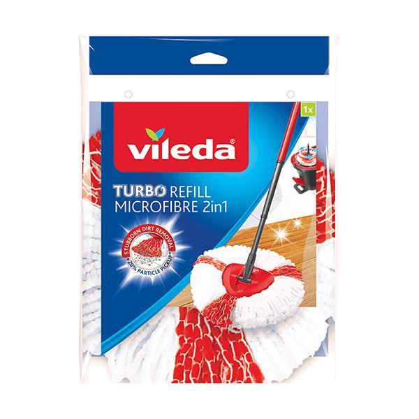 Recarga microfibras 2 em 1 para esfregona sem esforço Vileda Turbo