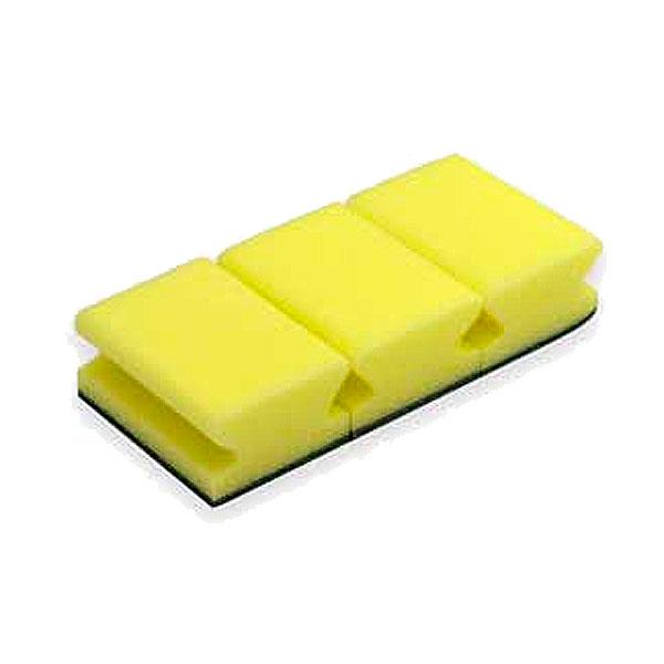 Esponja com esfregão salva unhas amarela e verde (pack 3)